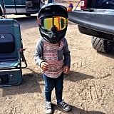 It was nearly impossible to recognize Pink and Carey Hart's daughter, Willow, behind her dad's racing helmet.