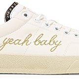 Saint Laurent Yeah Baby Leather-Trimmed Embroidered Canvas Trainers (£350)