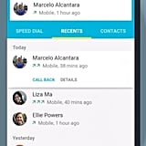New Contacts view in Android L.