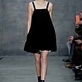 She Wore a Velvet Black Babydoll Dress in the Vera Wang Show