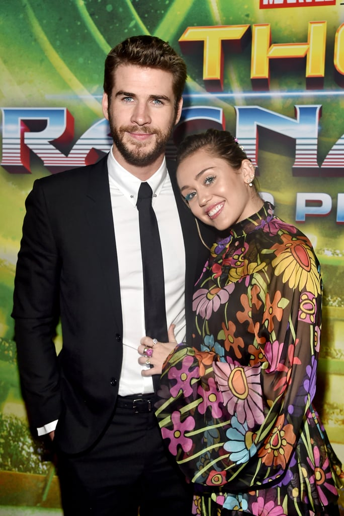 Miley and Liam supported his brother Chris at the Thor: Ragnarok premiere in Oct. 2017.