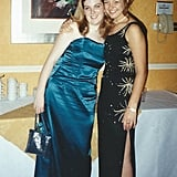 """I left my UK high school when proms were still an exotic American tradition we only knew from Sweet Valley High books and Freddie Prinze Jr. films, so we had a Leaver's Meal instead, which was basically the same without the limos, corsages, and dates. I made my own outfit using a wedding dress pattern from one of my mom's magazines. Everything was teal, right down to my eye makeup. While I'm still proud of being able to sew in 15 individual pieces of boning into a corset top at 17, I really wish I'd known how unflattering cheap satin is!"" — Gemma Cartwright"