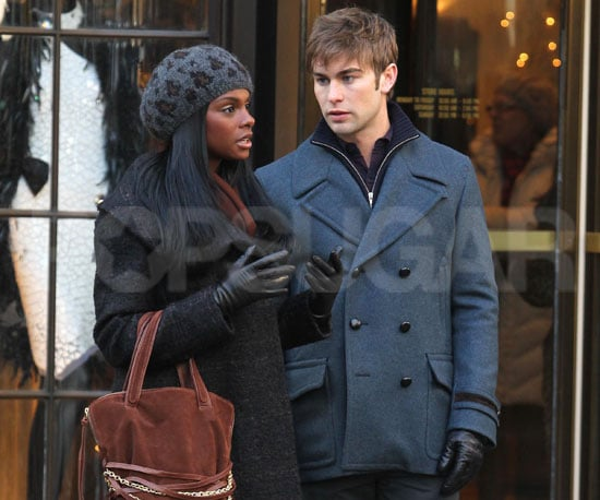 Slide Picture of Chace Crawford Filming Gossip Girl
