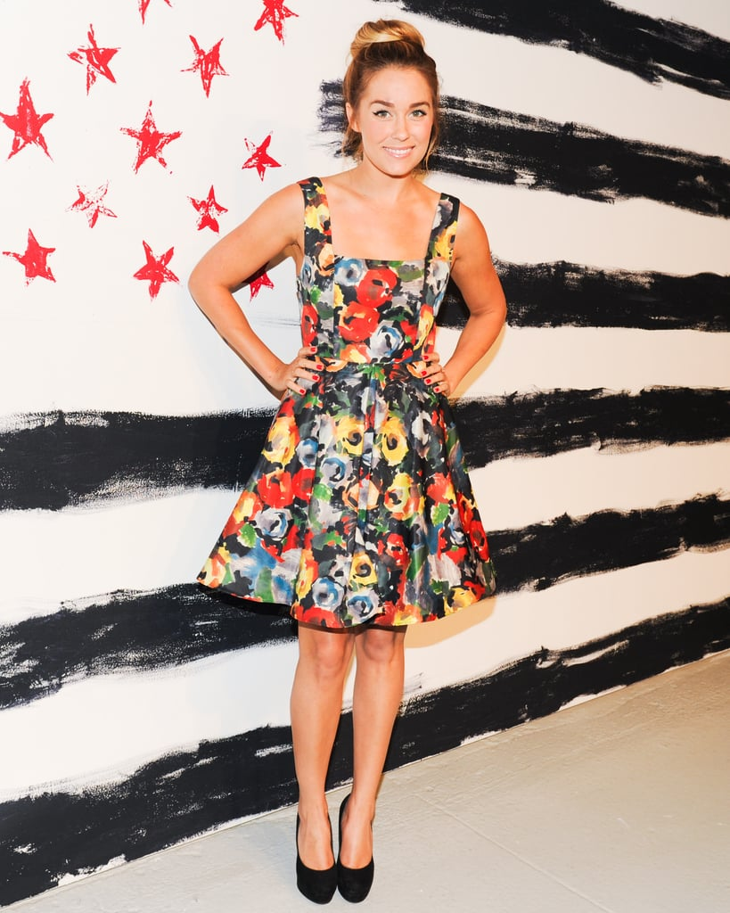 She opted for a flirty floral dress at a fashion event in 2013. Lesson from Lauren: find your print and keep rocking it.