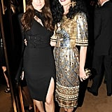 Pals Allison Williams and Katy Perry met up at the afterparty. Source: Neil Rasmus/BFAnyc.com