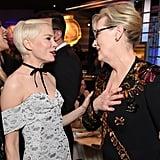Abgebildet: Michelle Williams and Meryl Streep