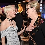 Pictured: Michelle Williams and Meryl Streep