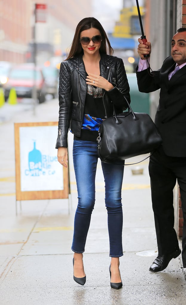 On Her Way Into Good Morning America Miranda Kerr Sported