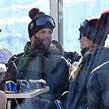 Jason Statham and Rosie Huntington-Whiteley took a break from skiing.