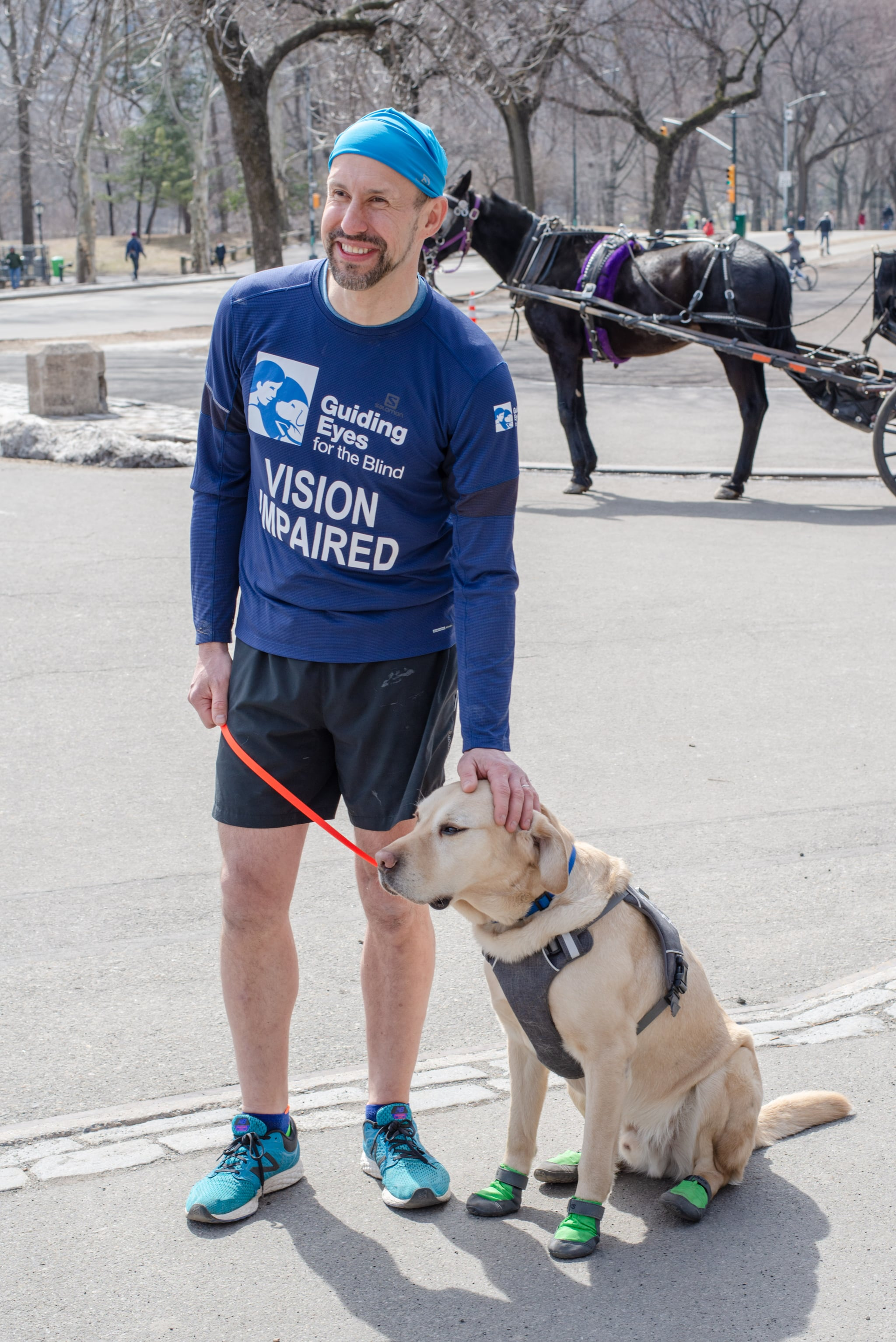 Thomas Panek and Guide Dog Gus