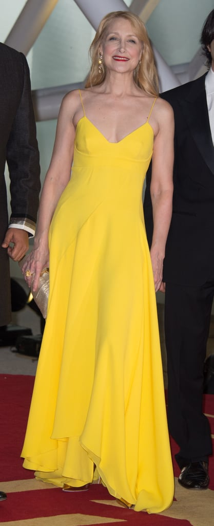 All eyes were on Patricia Clarkson when she sported this bright yellow Christian Dior gown to the opening ceremony of the Marrakech International Film Festival.