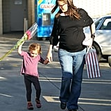 Pregnant Jennifer Garner took Seraphina Affleck out for the day in LA.