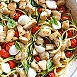 Grape Tomatoes and Zucchini-Noodle Caprese