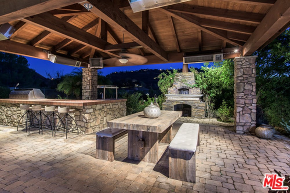A covered outdoor kitchen is the perfect setting for parties ...
