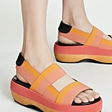 Marni Wedge Two Band Slingback Sandals