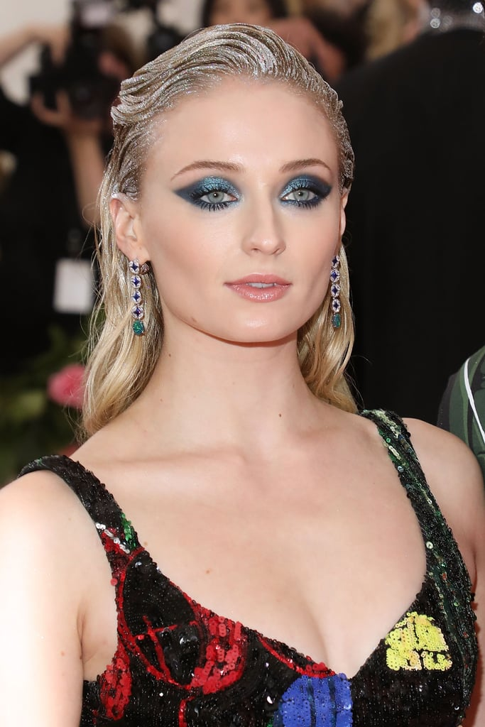 Sophie Turner's Emerald Winged Shadow