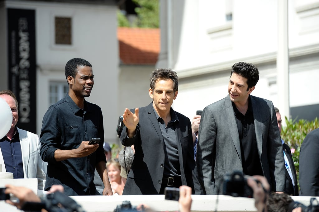 Chris Rock, Ben Stiller, and David Schwimmer waved to the crowd at the Cannes Film Festival.
