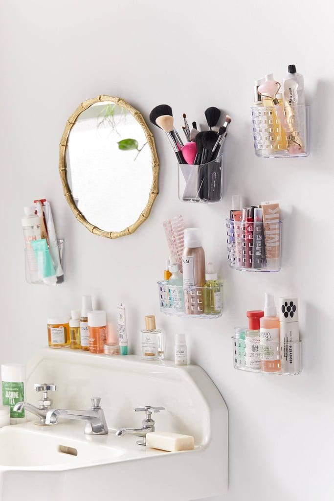 Acrylic Toiletries Wall Pocket