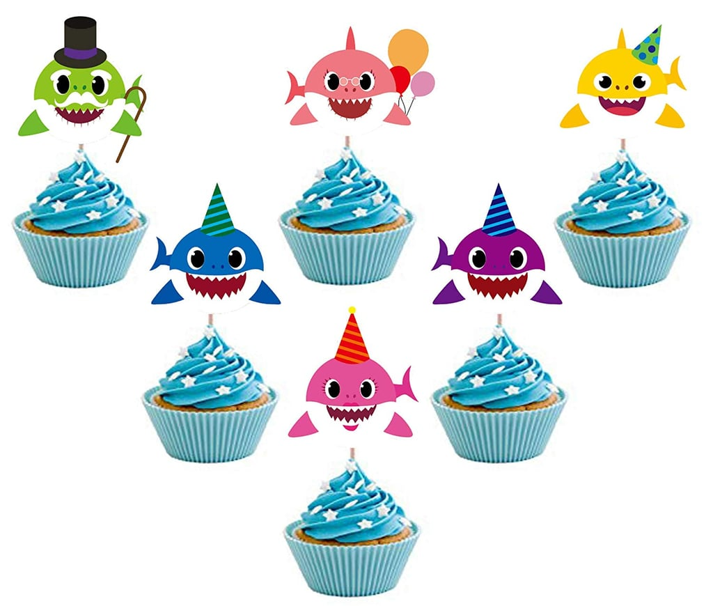 Baby Shark Cupcake Toppers | Baby Shark Party Supplies ...