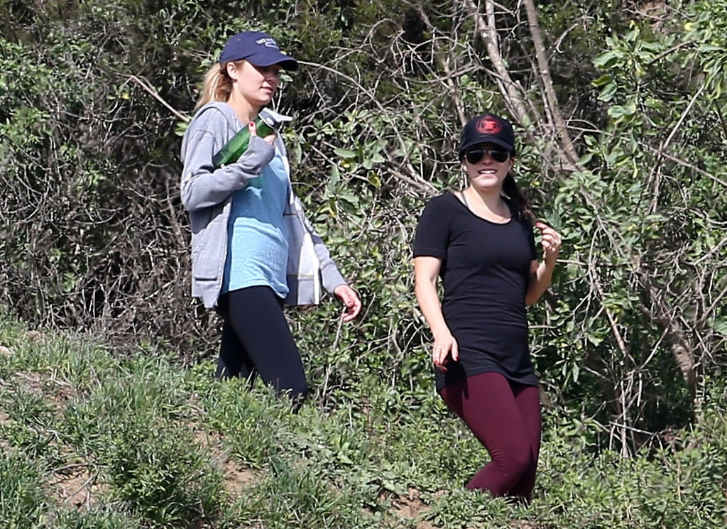 Lauren Conrad went on a birthday hike with a friend.