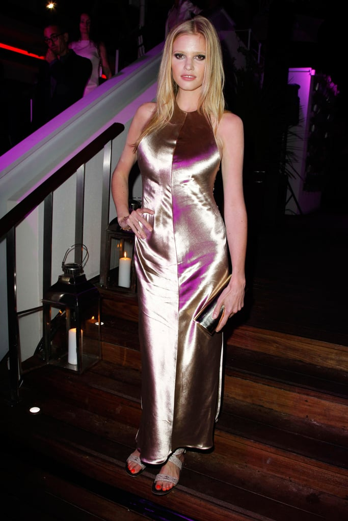 Lara Stone in Calvin Klein