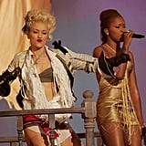 Gwen Stefani and Eve took the stage at the Staples Center together in 2005.