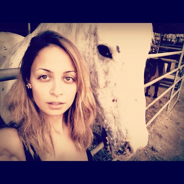 Nicole Richie got up close and personal with a horse. Source: Instagram user nicolerichie