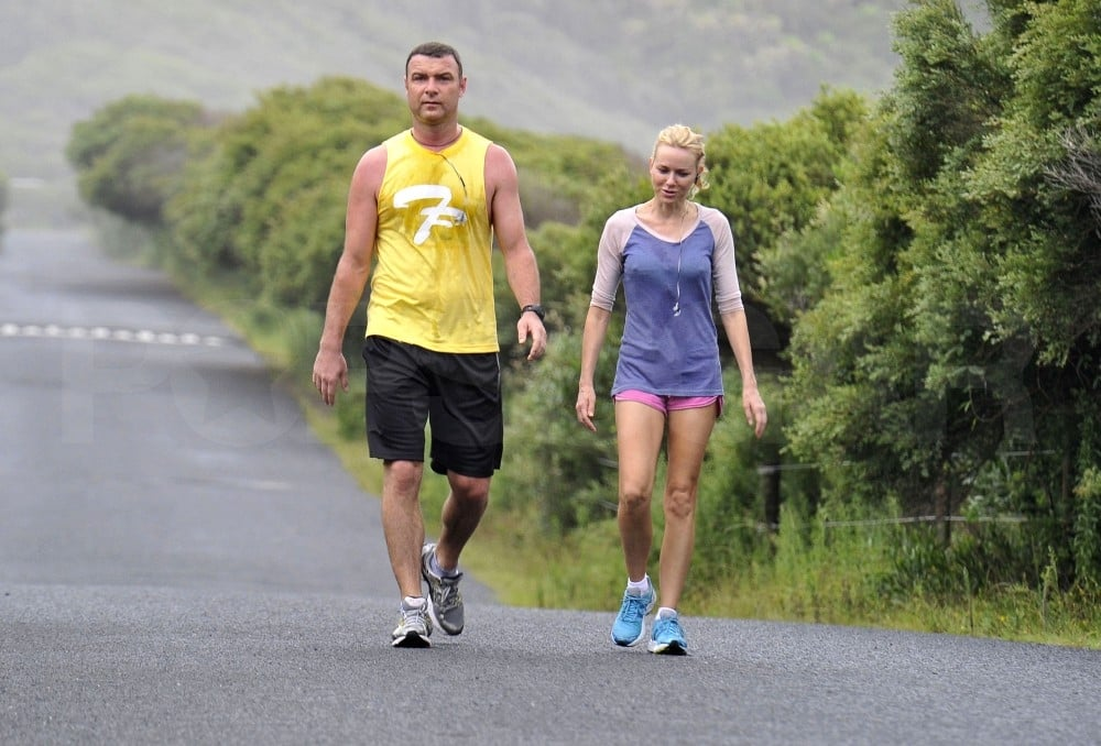 Liev Schreiber and Naomi Watts had a workout together.