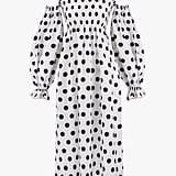 Sleeper Atlanta Linen dress in Polka Dot
