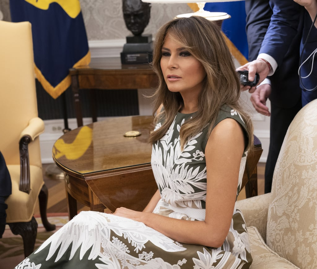Melania Trump Valentino Dress With Queen Letizia 2018