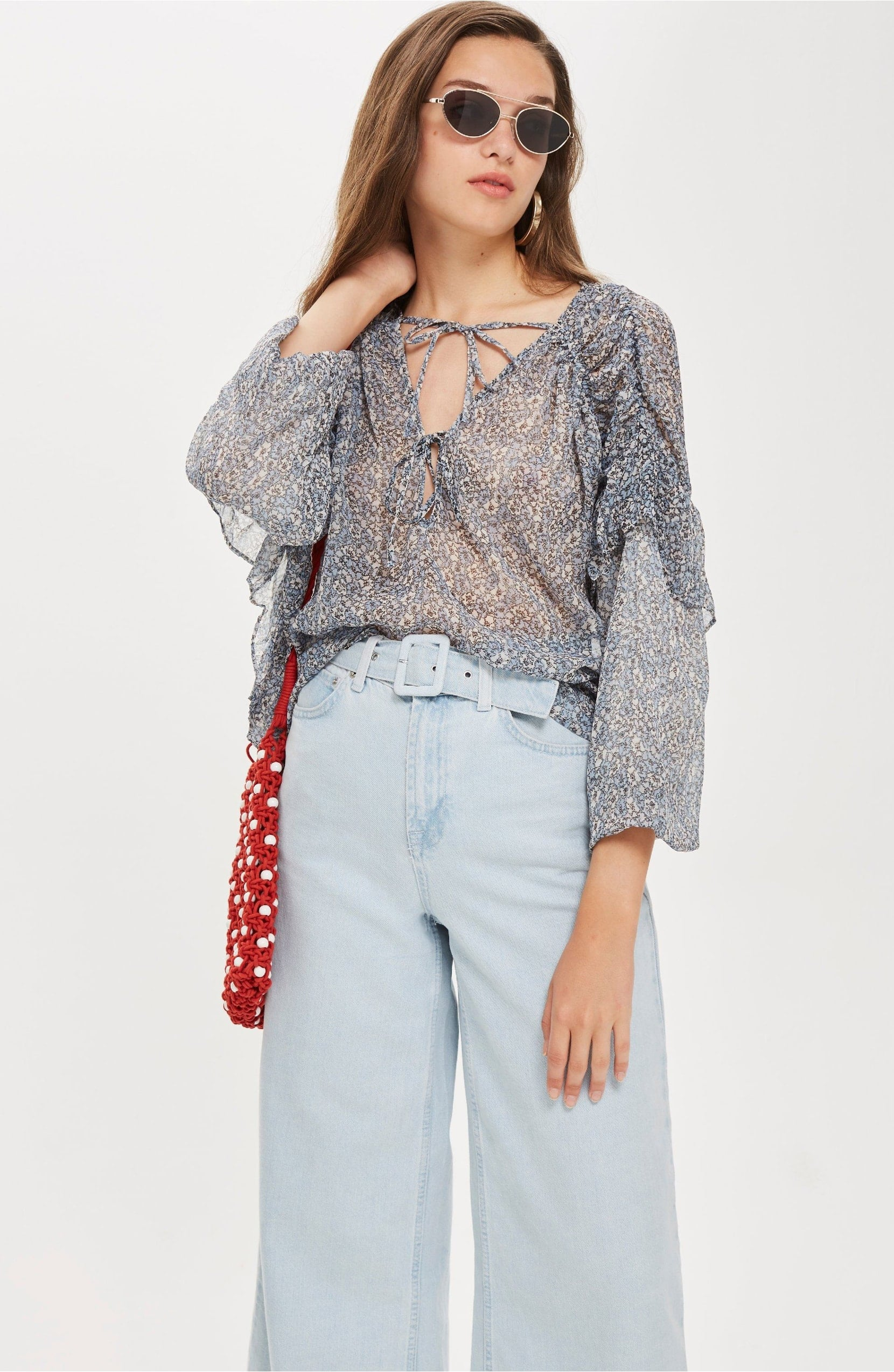 good top fashion quality products Topshop Ditsy Gypsy Tie Neck Blouse | The Best Summer Tops ...