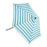 Turquoise Stripe Steel Umbrella