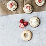 Strawberries and Cream Amaretti Thumbprints