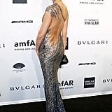 Erin Heatherton, wearing Kaufman Franco, at amfAR's New York Gala.