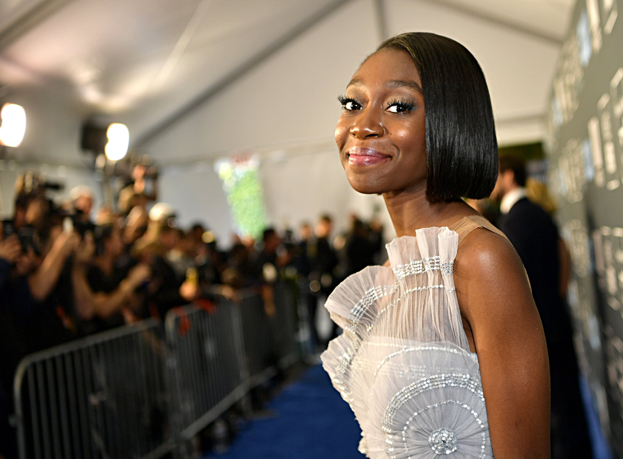 SANTA MONICA, CALIFORNIA - JANUARY 12: Shahadi Wright Joseph attends the 25th Annual Critics' Choice Awards at Barker Hangar on January 12, 2020 in Santa Monica, California. (Photo by Emma McIntyre/Getty Images)