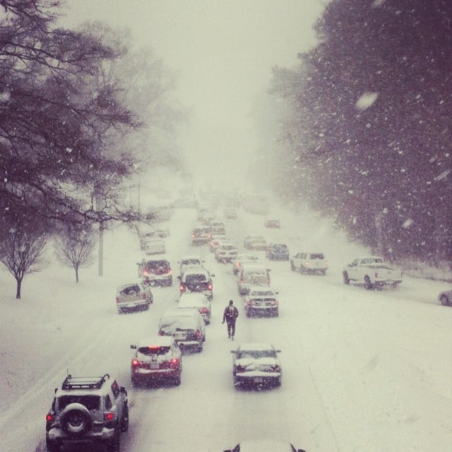 Traffic jams were devastating.