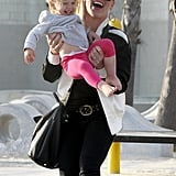 Pink and husband Carey Hart took their daughter, Willow, to a playground at LA's Venice Beach.