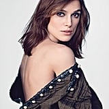 Keira Knightley bared her shoulders in a shoot for Marie Claire magazine. Source: Marie Claire