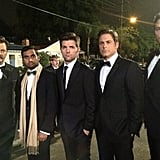 Rob Lowe teased a picture of the men of Pawnee looking slick. Source: Twitter user RobLowe