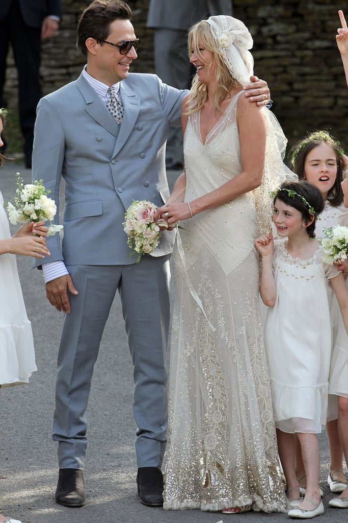 Kate Moss Wedding Dress Pictures With Husband Jamie Hince Popsugar