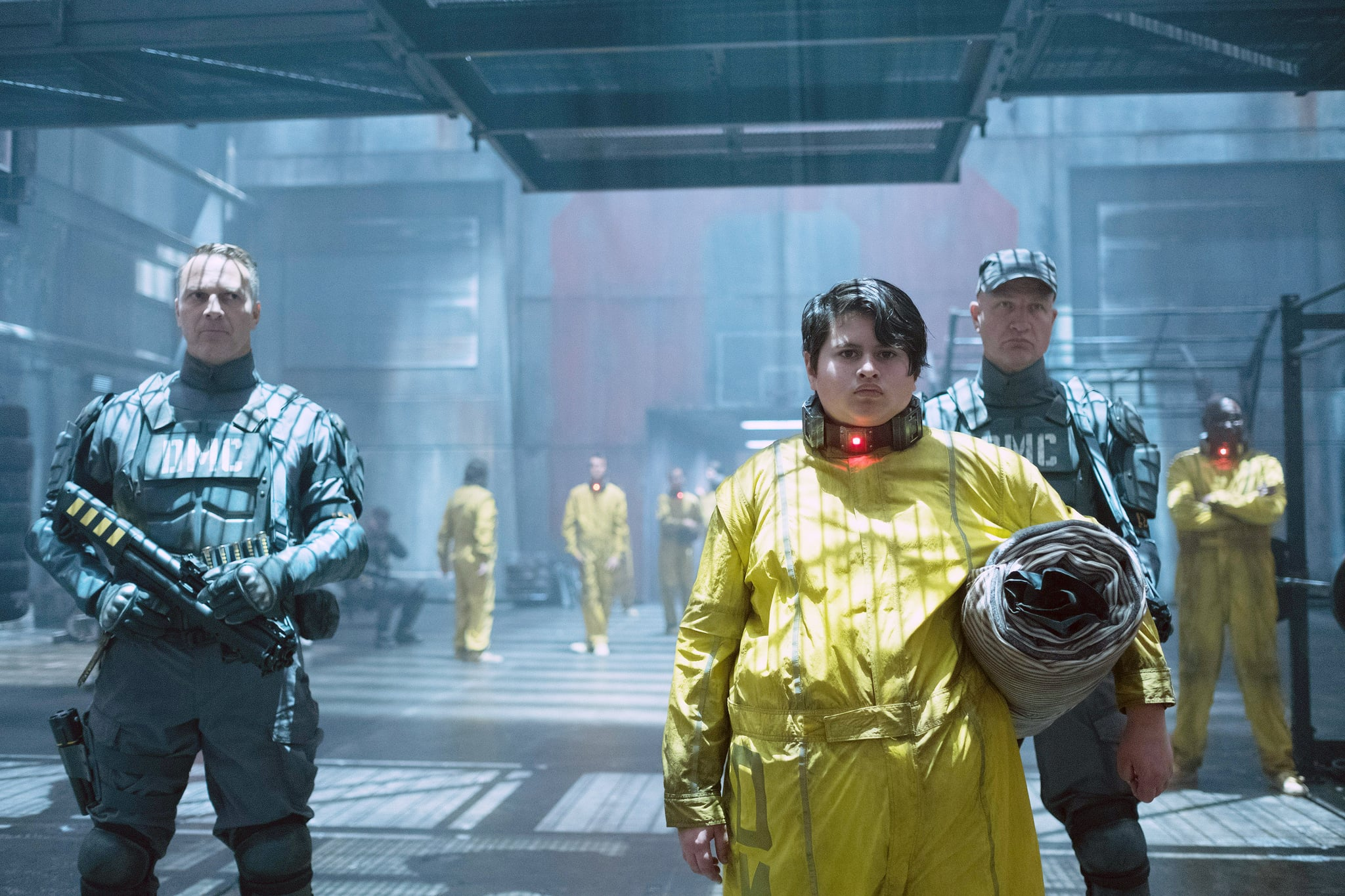 DEADPOOL 2, foreground right: Julian Dennison, 2018. ph: Joe Lederer/TM & Copyright  20th Century Fox Film Corp. All rights reserved./courtesy Everett Collection