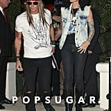 Cindy Crawford and Rande Gerber as Slash and Axl Rose in 2013