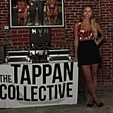 At The Tappan Collective party in LA, Harley exposed her midriff yet again in a printed bralet, high-waisted black miniskirt, and her favorite Marc by Marc Jacobs mouse flats.   Photo by John Marciniak