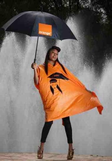 VV Brown Rain Poncho Glastonbury