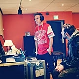 Macklemore and Ryan Lewis were hard at work in the recording studio. Source: Instagram user macklemore