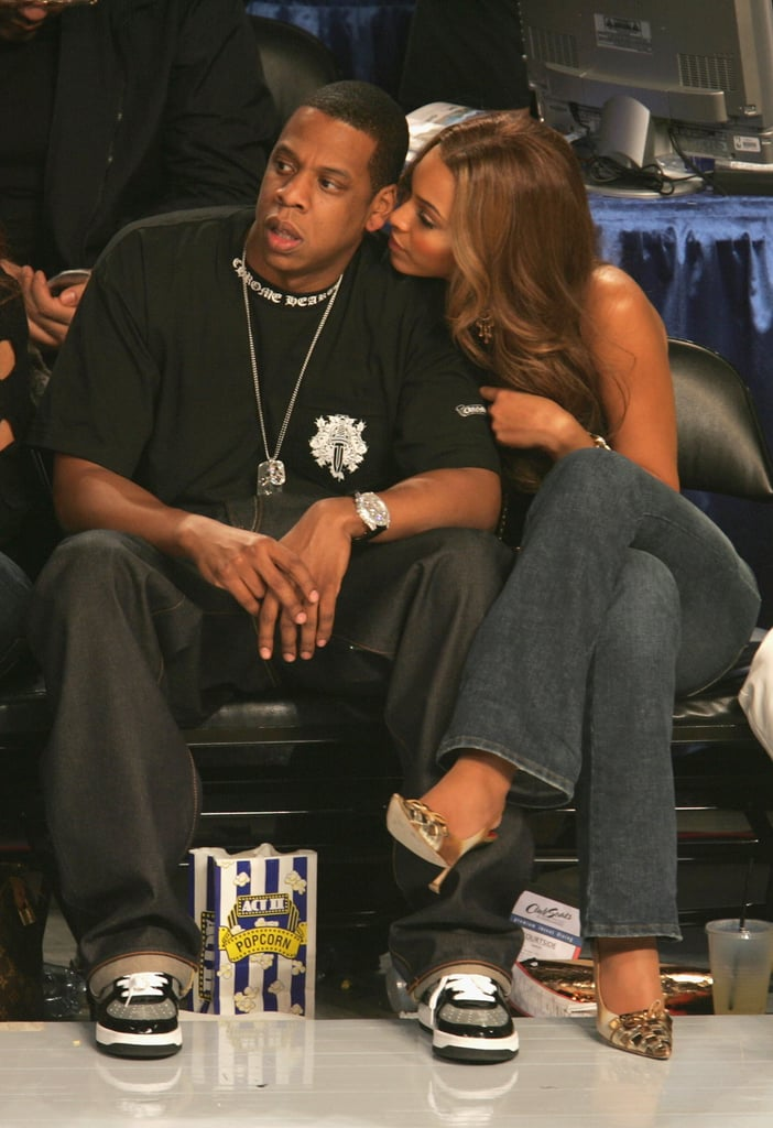 Jay-Z and Beyoncé had courtside seats for the February 2005 NBA All-Star Game in Denver.