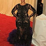 Beyoncé Knowles arrived at the Met Gala wearing a Givenchy gown.
