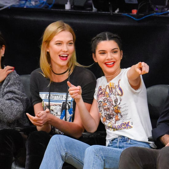 Kendall Jenner's Lakers T-Shirt October 2016