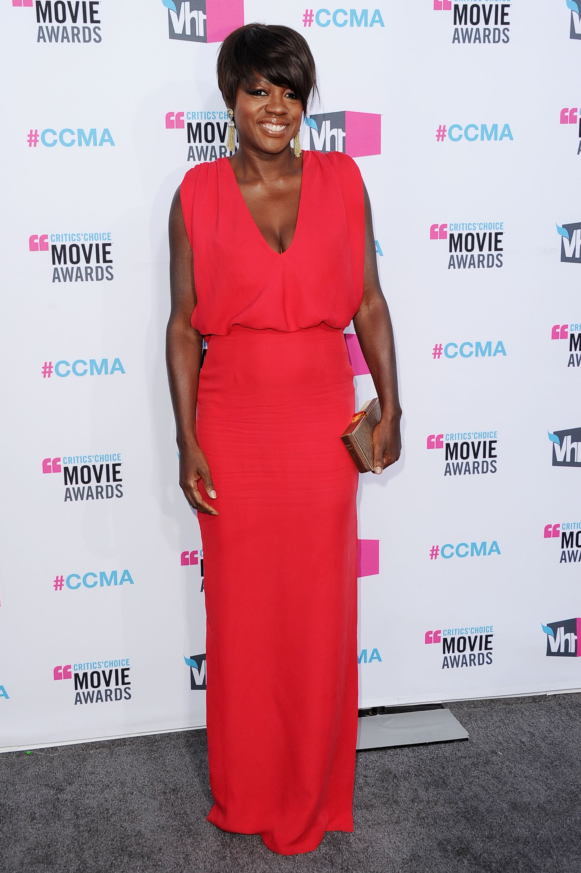 Viola Davis at the 2012 Critics' Choice Movie Awards.