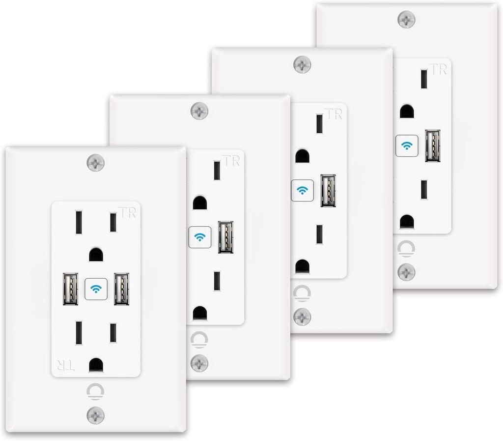 iLintek Smart Outlet With USB Ports 4-Pack